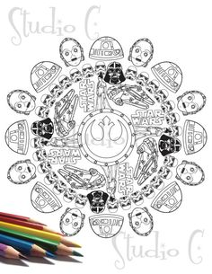 STAR WARS Mandala Color Page By StudioCshop On Etsy