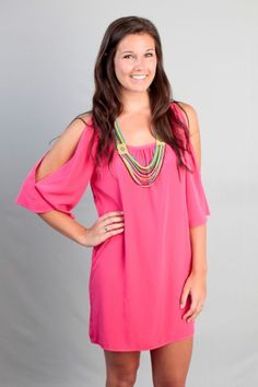 Rainy Day Romance Dress-Hot Pink