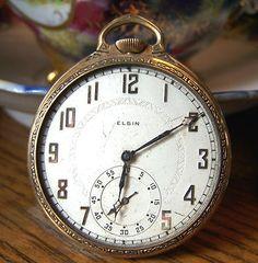Elgin fdレア貴重アンティークエルジンElgin手巻き懐中時計7 Watch Antique ¥22800yen 〆05月26日
