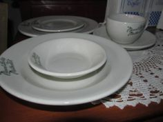 5 Pc.Set Vintage Mayer China Restaurant Ware from Mount Holly Methodist