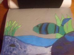 Donkere kleuren onderwater