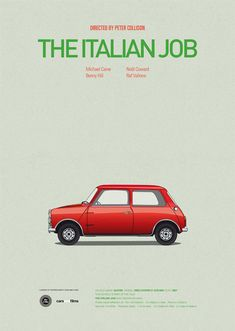 A series of posters about cars and films, by Jesús Prudencio. I would like to see the station wagon from Lampoon's Family Vacation, classic.