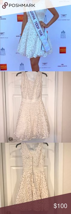 White Cocktail Dress White cut out Cocktail Dress perfect for pageant interview or events Xscape Dresses Prom