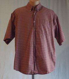 Haggar Generations Mens Large Button Down Short Sleeve Shirt #Haggar