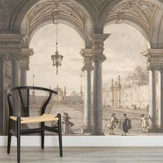 A Regatta on the Grand Canal by Canaletto wallpaper, an elegant art wallpaper full of stylish colour and intricate detail. Painting Wallpaper, Home Wallpaper, Fabric Wallpaper, Wallpaper Ideas, Grisaille, Luxury Homes Interior, Interior Design, Brick And Stone, Wall Treatments