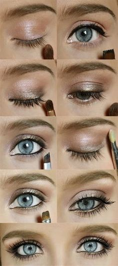 #bright #pink and #brown #nightout #makeup look))
