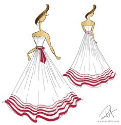 striped Wedding Dresses   Red and White Wedding Dress Red and White Striped Wedding Dress, Cake ...