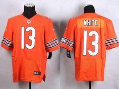 186ce7b51ec4 Nike Bears  13 Kevin White Orange Alternate Men s Stitched NFL Elite Jersey  Cheap Nba Jerseys