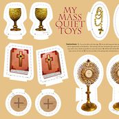 Catholic Mass plushie quiet toys cut and sew fabric by littleliteraryclassics, click to view