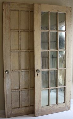 mirrored doors ~ DO this at the end of a dark hallway at right angles and you will be amazed at how much light it brings in. Did that in my last house and surrounded the doors with moldings and tile. One of my best ideas.