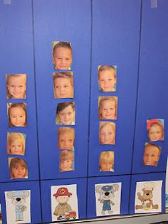 Question of the Day: Laminate pictures to use each day for different graphing.