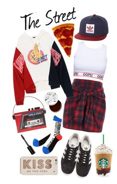 """""""Chill, Girl"""" by nessacarissa on Polyvore featuring River Island, adidas Originals, Sarah's Bag, too cool for school, Kate Spade and Bobbi Brown Cosmetics"""
