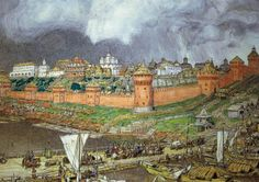 'Moscow Kremlin during the Reign of Ivan III' by Apollinary Vasnetsov