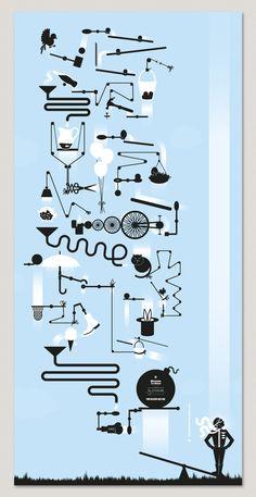 rube goldberg graphic - Google Search Maker Fun Factory Vbs, Rube Goldberg Machine, Marble Machine, Steampunk Design, Kinetic Art, Simple Machines, Digital Illustration, Illustration Styles, Drawing Techniques
