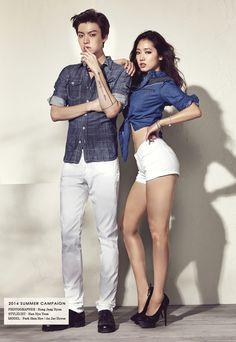 Park Shin Hye and Ahn Jae Hyun for Jambangee Summer 2014 Ad 2 Ahn Jae Hyun, Jun Ji Hyun, Korean Actresses, Korean Actors, Actors & Actresses, Sung Joon, Sung Kyung, K Pop, Couple Photoshoot Poses