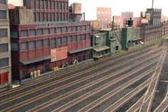 Railroad Yard Buildings | ... buildings. The first is the tall building to the far left in this