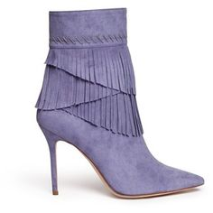 Aperlai 'Penelope' fringed suede boots
