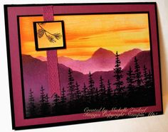 Purple Mountains Card created by Michelle Zindorf using Stampin' Up! Products - Wonderland
