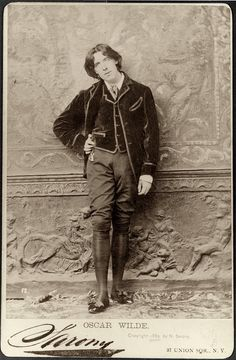 """Oscar Wilde arrives in New York Harbor, today in 1882. When asked if he has anything to declare to customs, he replies, """"Nothing but my genius.""""  Oscar Wilde via  George Eastman House."""