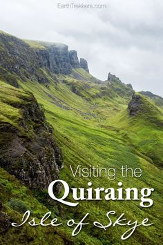 Hiking the Quiraing Isle of Skye, Scotland. How to visit the Quiraing, rain or shine. Where to get the best views even if you do not feel like hiking.