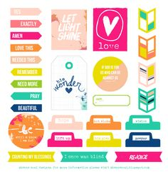 Lovely Colorful Christian Printable Embellishment Freebie