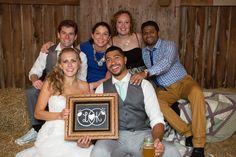 Barn photobooth at mint farm wedding. Wedding logo