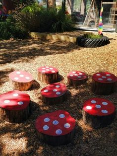 Mushrooms for outdoor maths - could make them moveable?