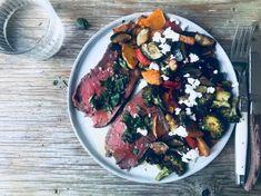 Ovnbagte grøntsager med feta og timian