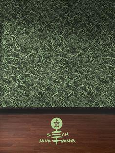 Zebra Plant Wallpaper by Sean Martorana by Sean Martorana seen at Philadelphia, Philadelphia | Wescover Accent Wallpaper, Plant Wallpaper, More Wallpaper, Zebra Plant, Wall Installation, New Artists, Zebras, Designer Wallpaper, Im Not Perfect