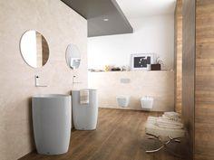 Descubre los #lavabos exentos a suelo #Lounge. Perfectos para #baños de diseño minimalista