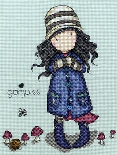 Toadstools Gorjuss cross stitch kit by Bothy Threads