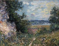 Alfred Sisley (French and British, 1839-1899), Vallée de la Seine, 1885, oil on canvas