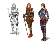 Like Drawing Image Fantasy of forms the Face Book The Witcher Geralt, Witcher Art, Character Creation, Character Art, Character Design, Larp, Triss Merigold, Redhead Girl, Drawing Clothes