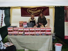 Designasausage stand selling their sausage making kits