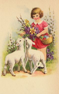 Alenquerensis: More Ideas for your Easter Projects Easter Art, Easter Crafts, Vintage Greeting Cards, Vintage Postcards, Old Illustrations, Ostern Wallpaper, Easter Illustration, Easter Wishes, Easter Pictures