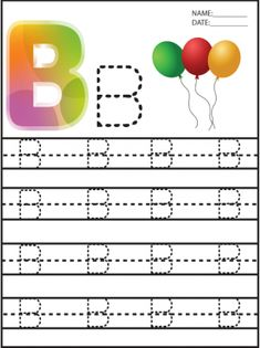 """PERFECT for learning Letters. Give a """"like"""" for free printable learning… Letter Worksheets For Preschool, Alphabet Tracing Worksheets, Preschool Writing, Preschool Songs, Alphabet Worksheets, Alphabet Activities, Preschool Learning, Alphabet Letter Crafts, Alphabet For Kids"""