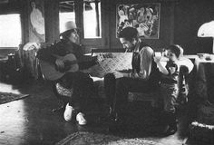 George Harrison and His Son | elston-gunnn: George Harrison, Bob Dylan and his son, Thanksgiving ...