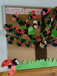 Ladybug Bulletin Boards, Summer Trees, Classroom, Kids Rugs, Board Ideas, Logos, Spring, Art, Insects