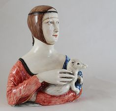 White Clay, Sculpture, Statue, Ceramics, Lady, Handmade, Ceramica, Pottery, Hand Made