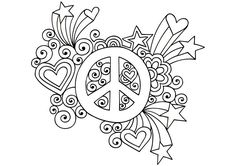 Groovy Psychedelic Peace Sign - Buzzle.com Printable Templates
