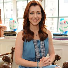 """Alyson Hannigan Alyson on Style    Alyson, who counts boots and blazers as her must-have items for the season, says her style depends on her mood. """"I still like Converse,"""" she admits, """"but in my 20s, I developed my love for fashion. I got a late start, but I'm making up for missed time. I'm inspired by so many different people and people's styles so I wouldn't want to pin myself down."""""""