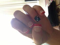 My own twist on American Flag nails!! Stagecoach ready!