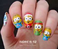 Nailed It NZ: Christmas Minions | Nail Art Inspired by Despicable Me