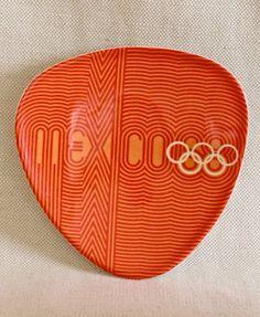 1968 Mexican Olympics pin dish design by Lance Wyman