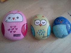Painted Decorative Rock Hoo Loves You by Moodstones on Etsy