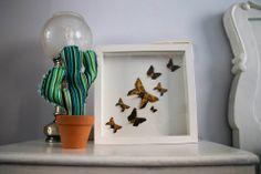 Cuadro mariposas #origami #papiroflexia #DIY