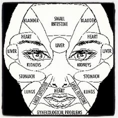Acupuncture For Destress In Chinese medicine, face mapping is used to decode messages of distress from other areas in our body. Skin concerns in a particular area of the face could indicate health concerns that are not visible in the mirror. Holistic Healing, Natural Healing, Natural Cures, Natural Skin, Chinese Face Map, Face Mapping, Partner Yoga, Alternative Health, Health And Beauty Tips