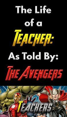 The Life of a Teacher: As Told By The Avengers – Bored Teachers —oh my god I love this! Superhero Teacher, Superhero Classroom, Future Classroom, Classroom Humor, Science Classroom, Classroom Ideas, Teacher Humour, Teacher Sayings, Teacher Stuff