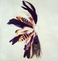 Feather Ear Cuff  Mazatl by Njuu on Etsy