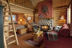 Luxury Log Cabins in Canadian Rockies  Cathedral Mountain Lodge
